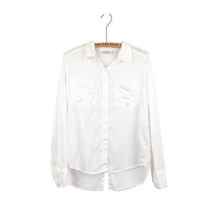 Abercrombie & Fitch Classic White Drapey Button-Up Shirt